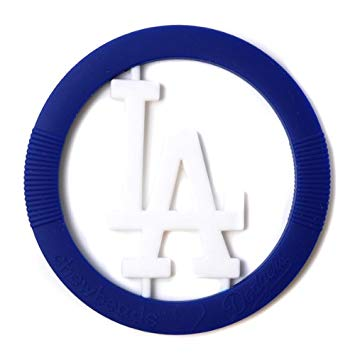 Chewbeads MLB Gameday Teether, 100% Safe Silicone - Los Angeles Dodgers