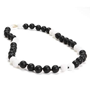 Chewbeads Waverly Teething Necklace, 100% Safe Silicone - Black