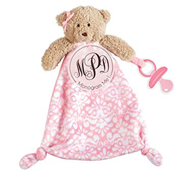Mud Pie Bear Monogram Pacy Cuddler