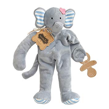 Mud Pie Pacifier Cuddler, Elephant
