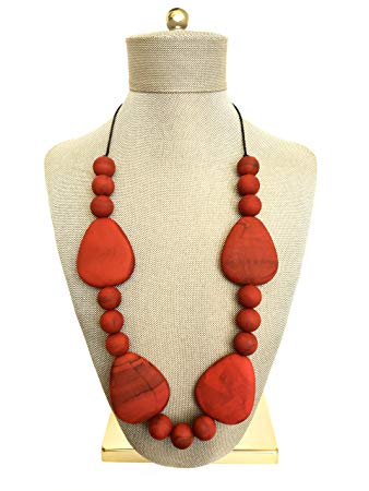 Dimples & Grace Baby Teething Necklace for Mom to Wear Organic Food Grade Silicone Beads Crafted...