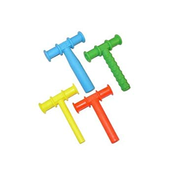 CHEWY TUBE MASTER COMBO PACK - 3 KNOBBY TEXTURE - 3 (BLUE) LARGE - 3 (RED)...