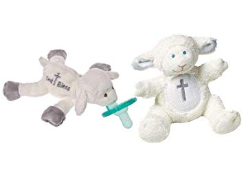 Mary Meyer Christening Baby Rattle & WubbaNub Pacifier