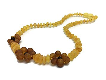 11 Inch Raw Unpolished Lemon Flower Baltic Amber Teething Necklace Infant, Baby, Newborn Drooling &...