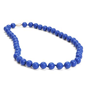 Chewbeads Jane Teething Necklace (Cobalt) - Original Fashionable Infant Teething Jewelry for Mom....