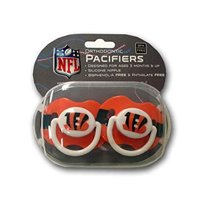 Baby Fanatic 2-pack Pacifiers - Cincinnati Bengals