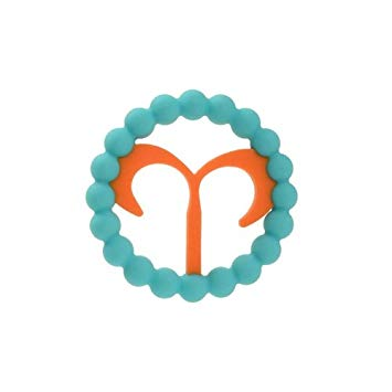 Chewbeads Baby Zodies Teether - Aries (Mar. 21 - Apr. 19) - Turquoise