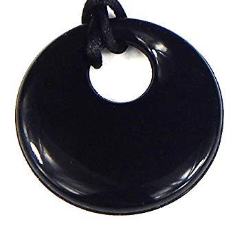 Trulyunique Mom Donut Teething Pendant Necklace - Black - Upper Donut