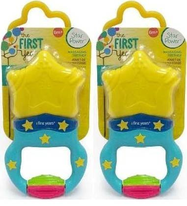 NYD Packs The First Years Massaging Action Teether - 2 Teethers