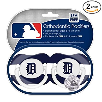 Baby Fanatic MLB Team Pacifiers, 2-Pack