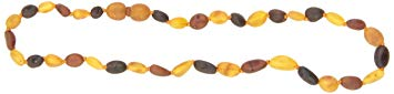 Momma Goose Olive Teething Necklace, Unpolished Multi, Medium/12-12.5