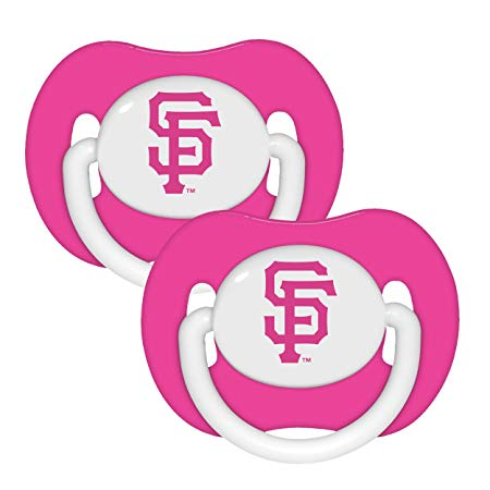 Baby Fanatic MLB San Francisco Giants Pacifiers (Pack of 2), Pink