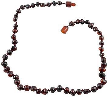 Healing Hazel 100% Baltic Amber Teething Necklace - Cherry 12-13