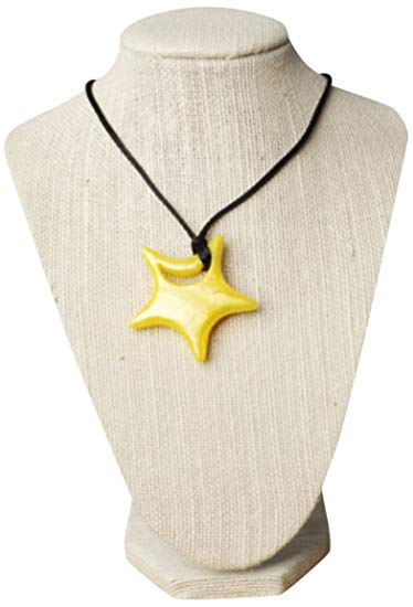 Teethease Star Pendant Toy, Metallic Yellow