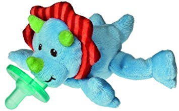 Mary Meyer Wubbanub Pacifier with BONUS Pacifier Wipes, Okey Dokey Dino