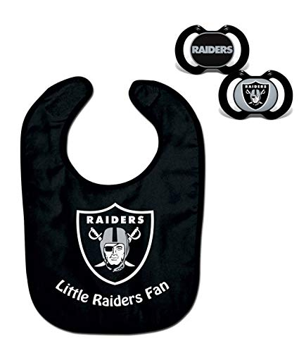 Official NFL Fan Shop Authentic Baby Pacifier and Bib Bundle Set. Start out Early in Joining the Fan Club and Show Support for Your Favorite Football Team