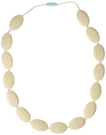 Mama & Little Silicone Teething Nursing Necklace for Mom Lulu, Cream