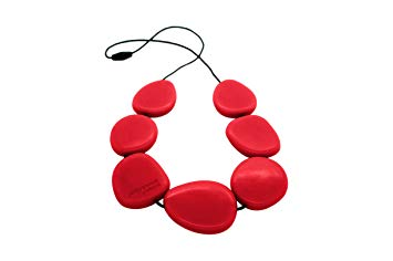 Jellystone Necklace - Silicone (Teething/Nursing) (Scarlet Red)