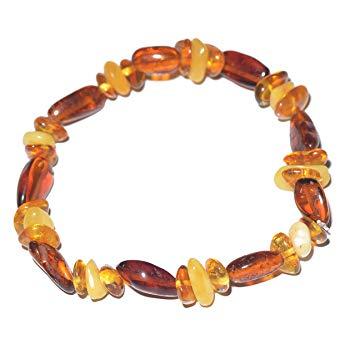Baltic Amber Bracelet for Adult - Genuine Baltic Amber - Elastic - 100% Genuine Amber Guarantee -...