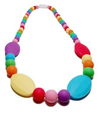 Teething Necklace Nursing Necklace for Mom & Baby in Rainbow Silicone or for Breastfeeding