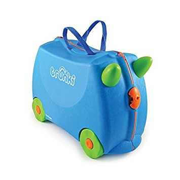 Trunki The Original Ride-On Terrance Suitcase, Blue