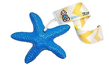 WowieStar and strap bundle - USA FDA Compliant Medical Grade Silicone Baby Teether (Blue - Caribbean...