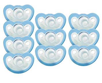 JollyPop 0-3 Months Pacifier 10 Pack Vanilla Scented - Blue