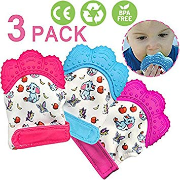 Duperym Teething Glove Baby Teethers Teething Relief Sore Gums FREE BPA Safe Food Grade Teething Mitt...