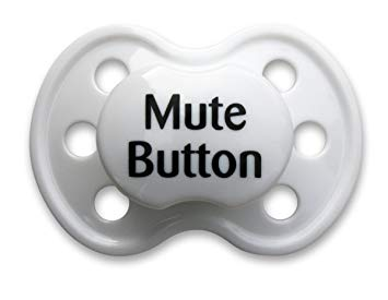BooginHead Pacifiers Mute Button - White