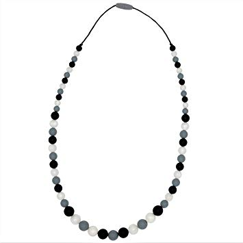 Chew-Choos 'Playdate' Silicone Nursing and Teething Necklace - Modern Eco-friendly Baby Teether...