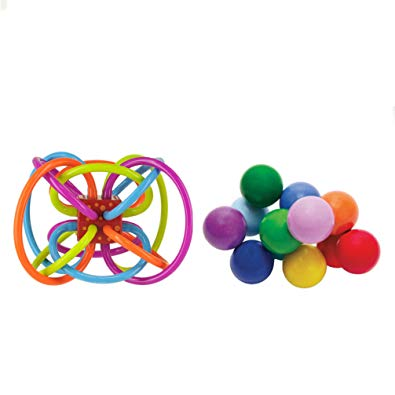 The Manhattan Toy Company Winkel Toy & Classic Beads Multi Color Unisex Kids Activity Toy