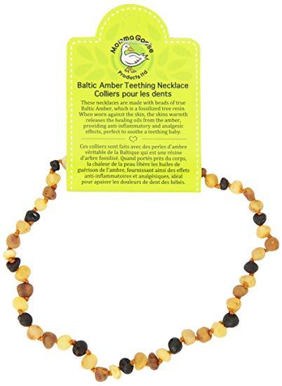 Momma Goose Baroque Teething Necklace, Unpolished Multi, Medium/12-12.5