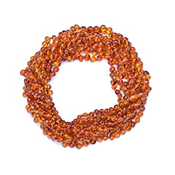 Amber Wholesale - 10 Hand Made Baltic Amber Teething Necklace for Babies - Safety Knotted -...